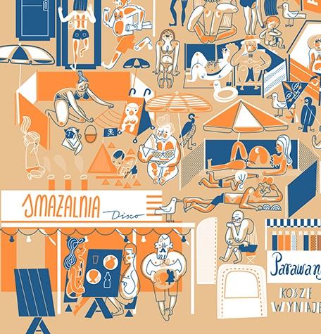 Plakat Bałtyk W Sezonie